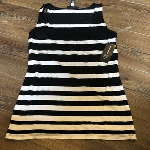 INC tank black and white NEW size medium